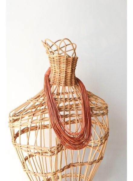 Orange Strands Necklace