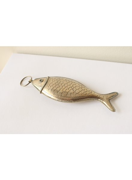 Large fish silver key chain