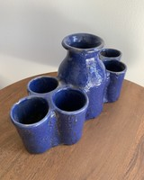 Moroccan Candle Stick Holder- Large Cobalt, Long