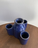 Moroccan Candle Stick Holder- Small, Cobalt