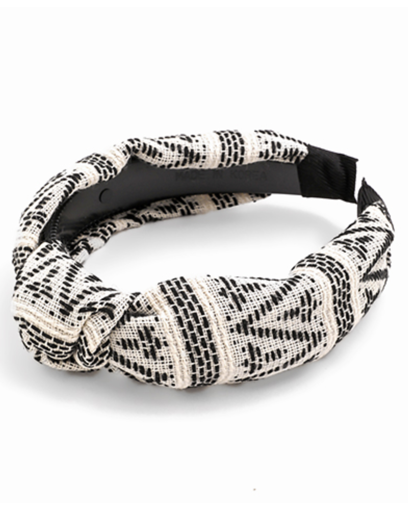 White + Black Tribal Headband