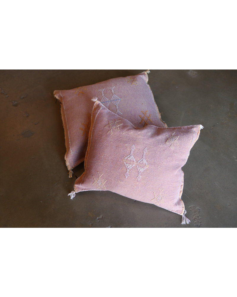 """20"""" x 20"""" Cactus Silk Pillow- Bloom"""