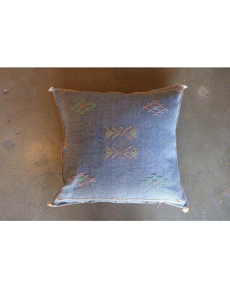 "24"" x 24"" Cactus Silk Pillow- Chambray"