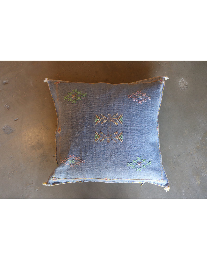 "24"" x 24"" Cactus Silk Pillow Cover- Chambray"