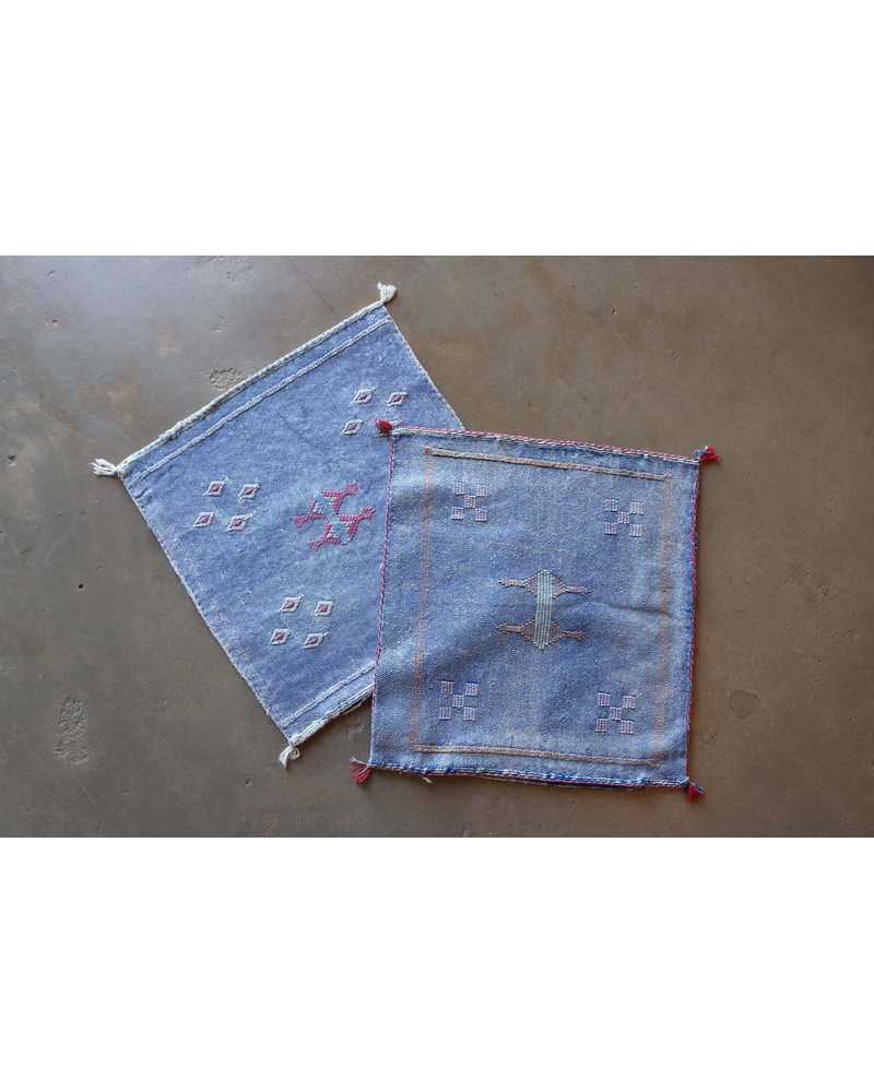 "18"" x 18"" Cactus Silk Pillow Cover- Chambray"