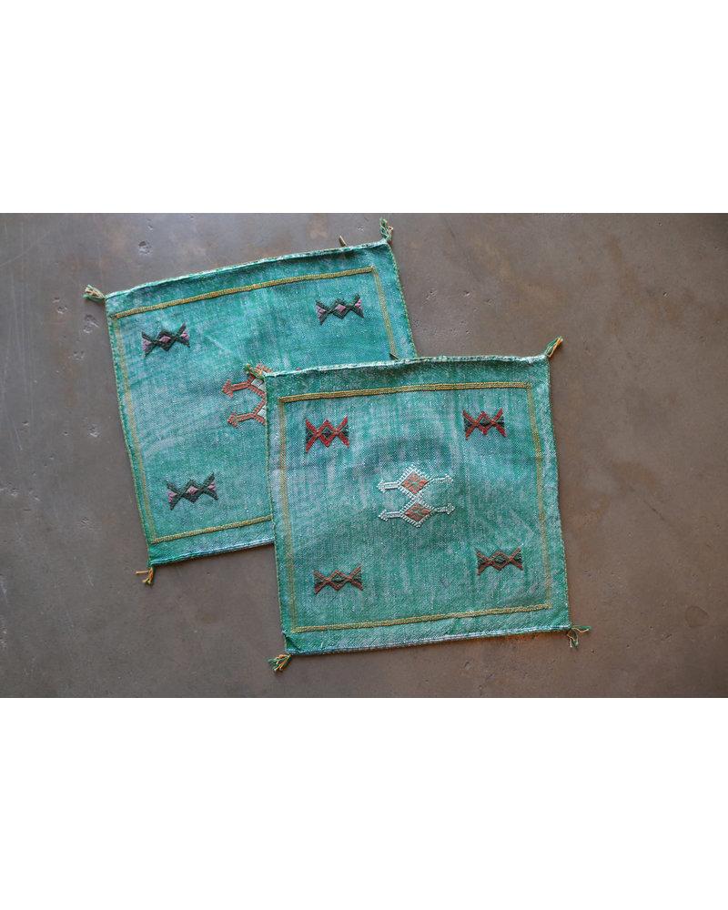 """20"""" x 20"""" Cactus Silk Pillow Cover- Linden"""