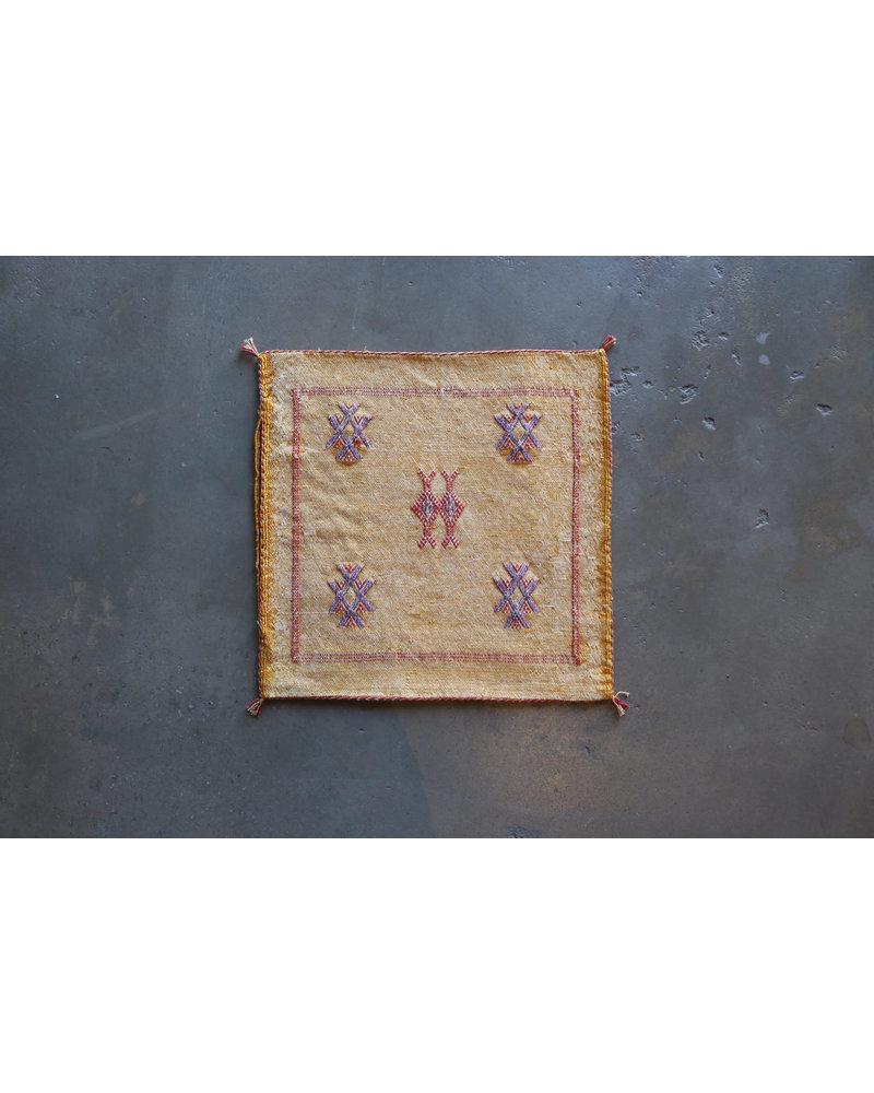 """18"""" x 18"""" Cactus Silk Pillow Cover- Marigold"""
