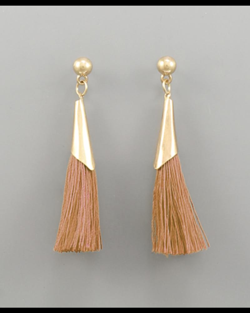 Rust Tassel Earrings