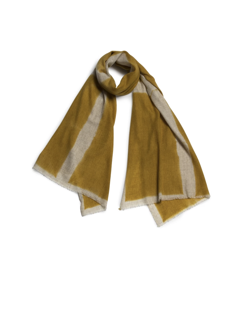 Nuance Wool Scarf- Yellow