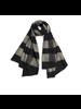 Quadrillage Wool Scarf- Grey & Black