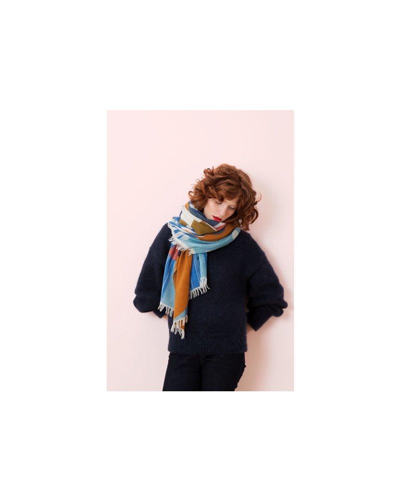FOULARD- Walli Bleu Rose