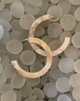Ivory Acrylic Hoops