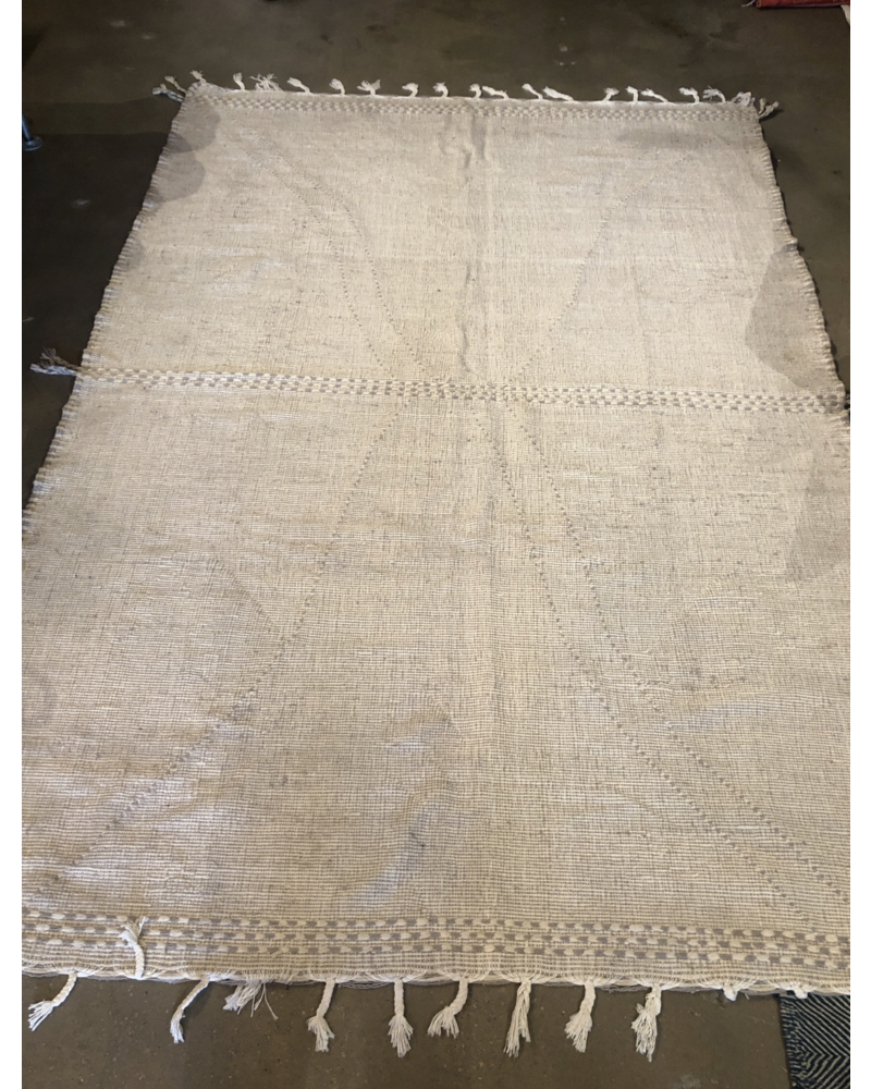 "Moroccan Wool Rug- Natural-6'8"" x 9'8"""