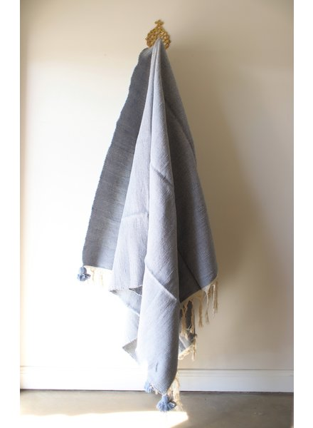 Pale Blue Wool Blanket