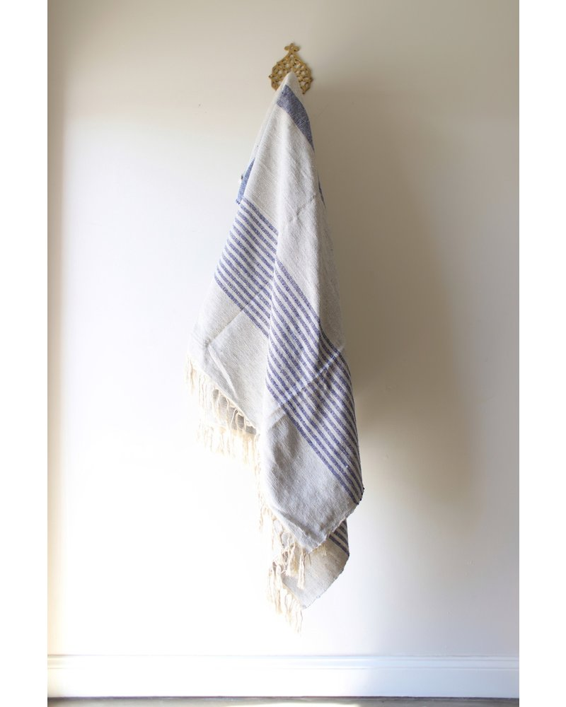 Medium Blanket #7- Mist & Blue