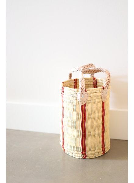 New Palm Round Basket- Medium- Stripe #3