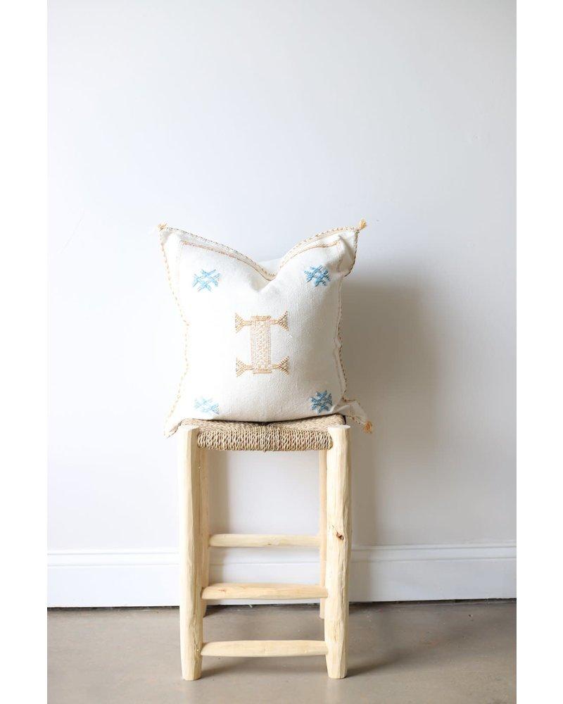 Cactus Silk Pillow #1- Linen