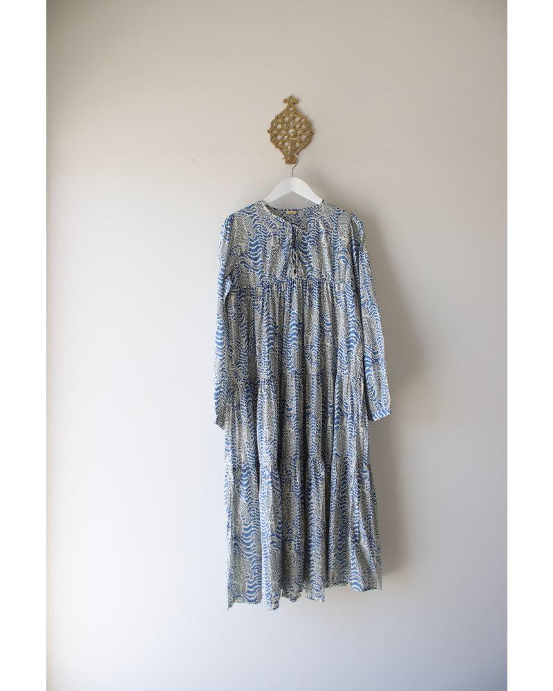 Yamini Tiger Dress- Blue