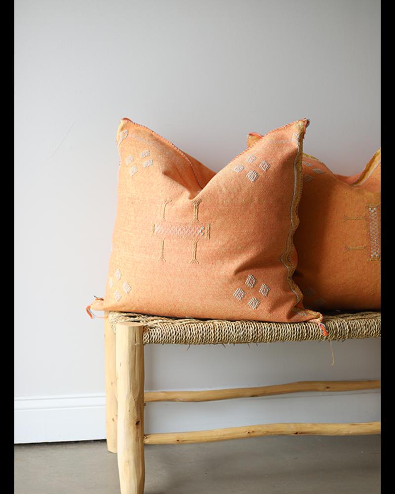 Orange Cactus Silk Pillow Cover