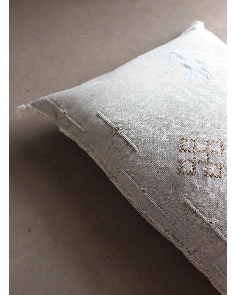 """36"""" x 18"""" Cactus Silk Lumbar- Oyster"""