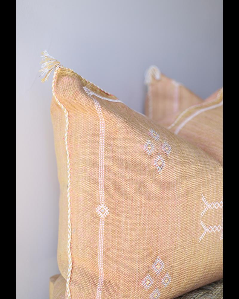 "24"" x 24"" Cactus Silk Pillow Cover- Russet #10102"