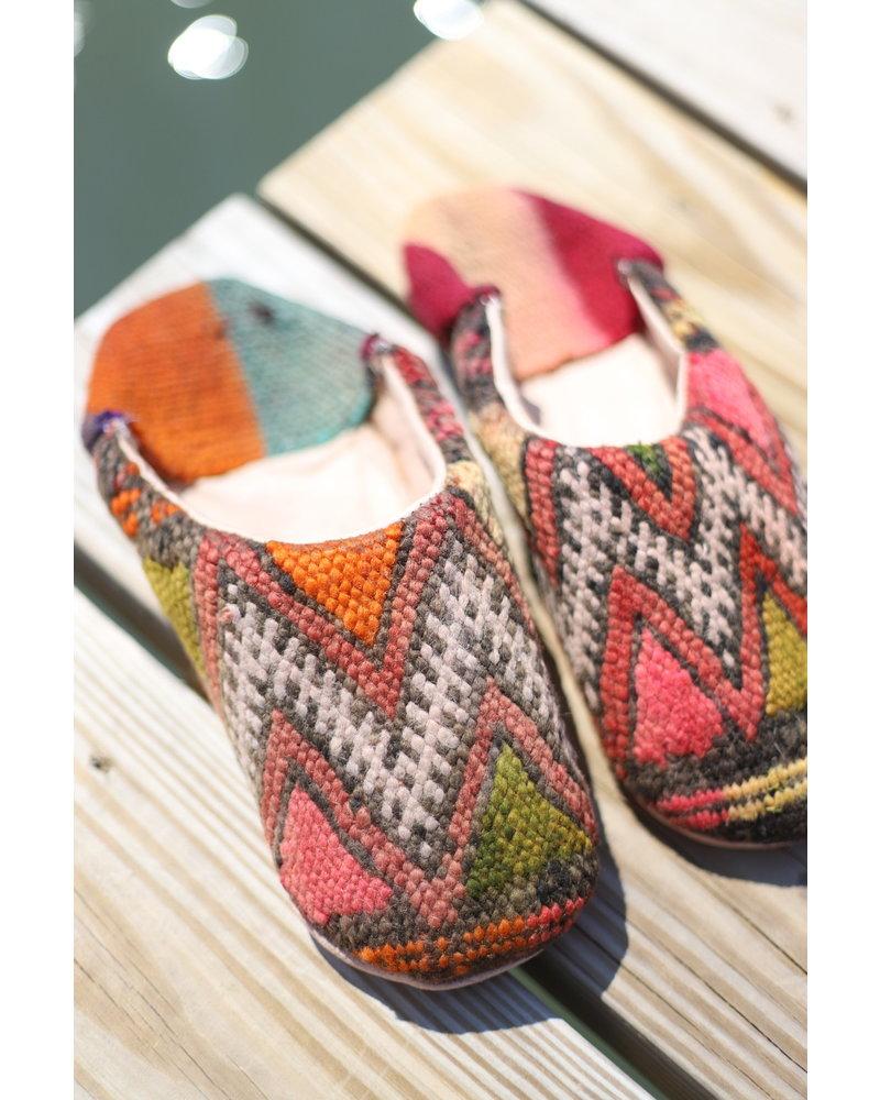 Moroccan Babouche Textile #1 Size 8-9