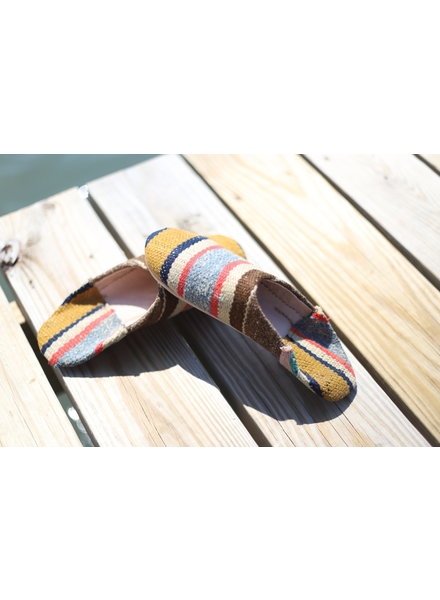 Moroccan Babouche Textile #3 Size 8-9