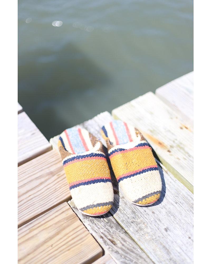 Moroccan Babouche Textile #4 Size 7-8