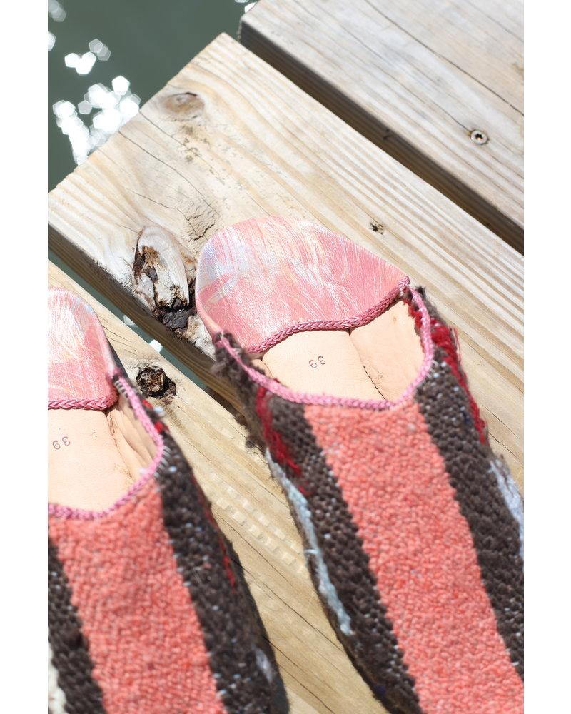 Moroccan Babouche Textile #6 Size 7-8