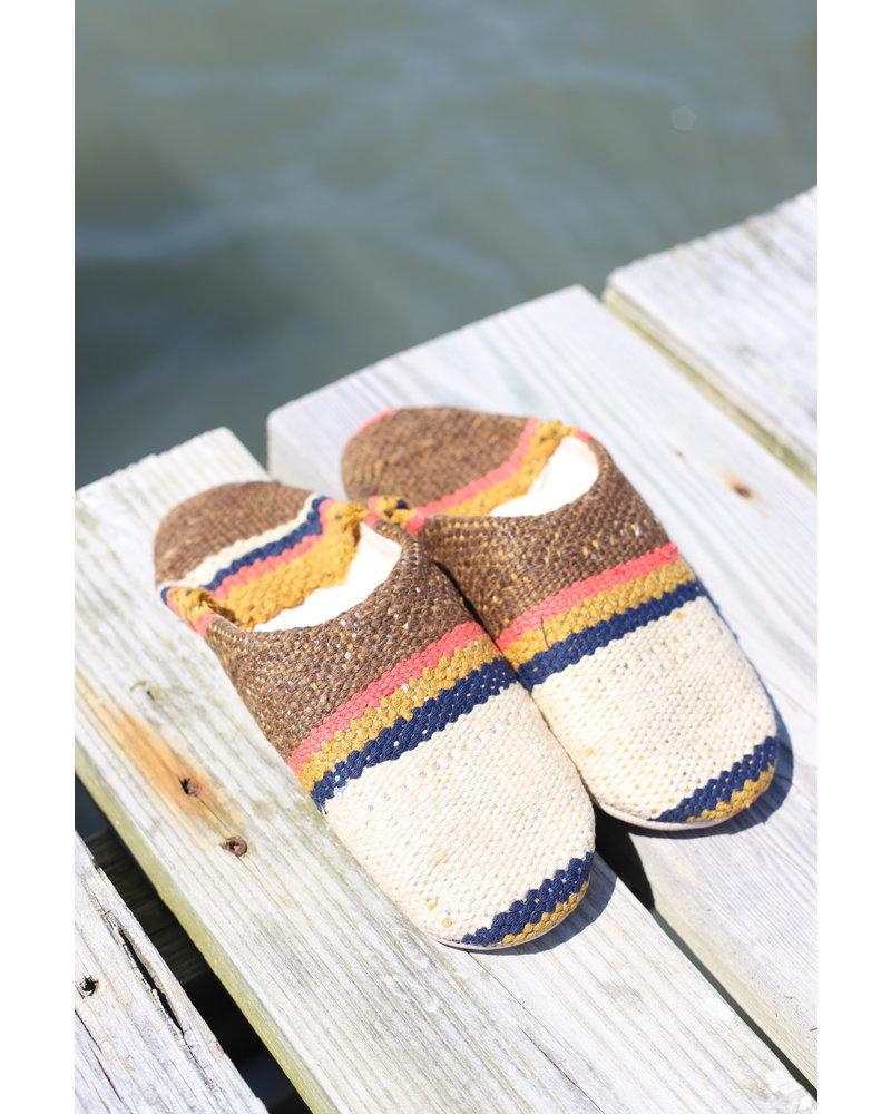 Moroccan Babouche Textile #8 Size 6-7