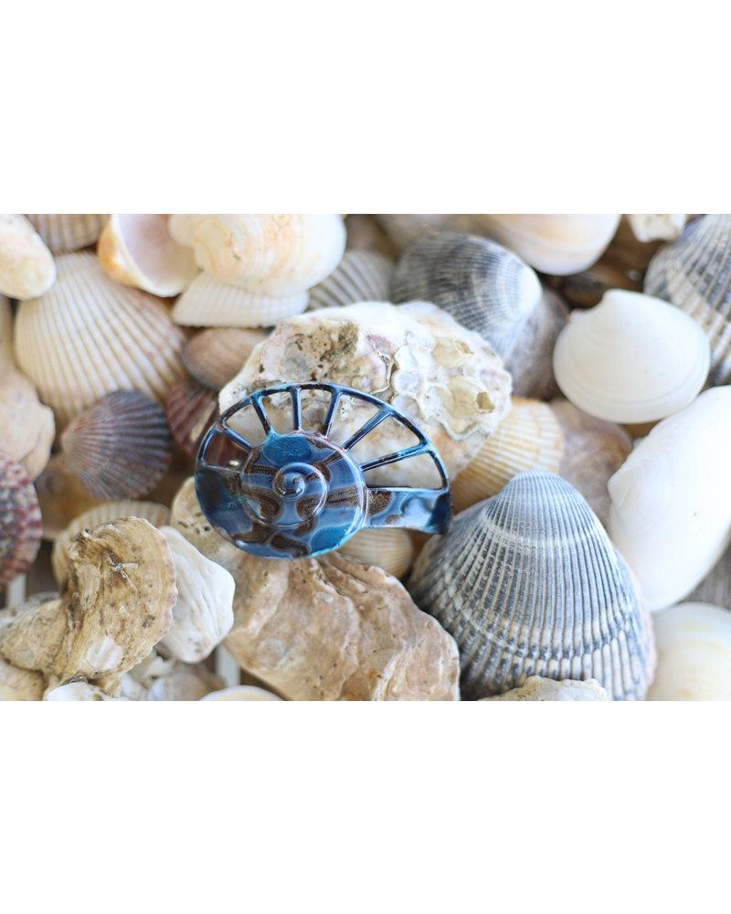 Nautilus Hair Clip- Marine Blue