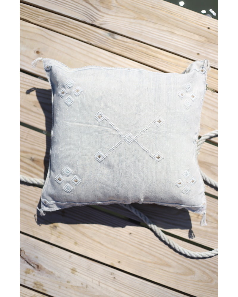 """20"""" x 20""""- Cactus Silk Pillow Cover- Oyster #10168"""