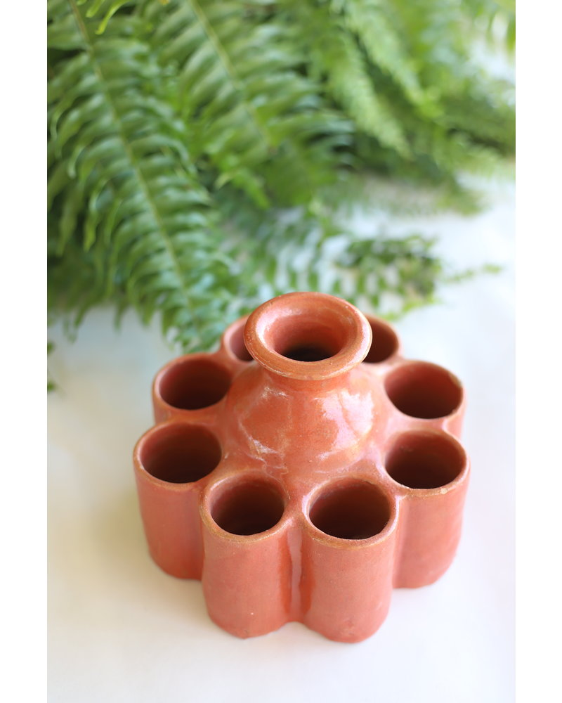 Moroccan Inkwell- Medium, Round- Terracotta