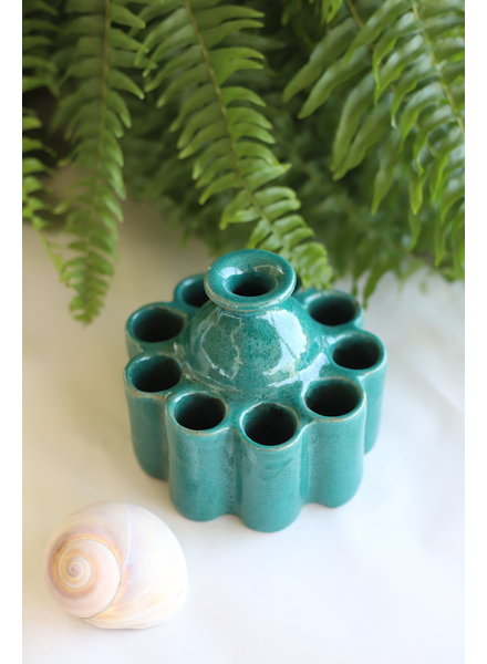 Moroccan Inkwell- Small, Round- Teal