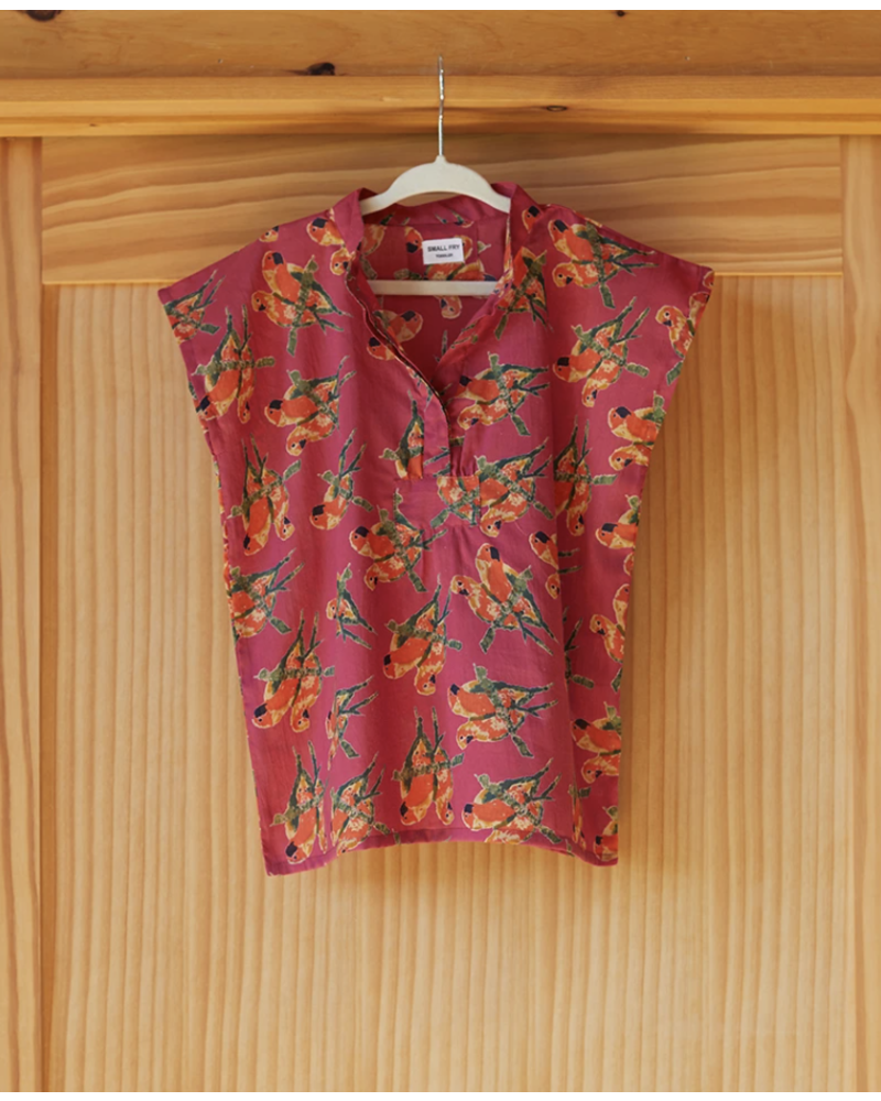 Rose Fred the Parrot Caftan