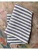 Linen Kitchen Cloth- Blue + White Stripe