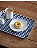 Navy & White Check Linen Coated Tray- Large