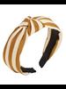 Stripe Knotted Headband- Tan
