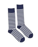 Navy & White Stripe Socks