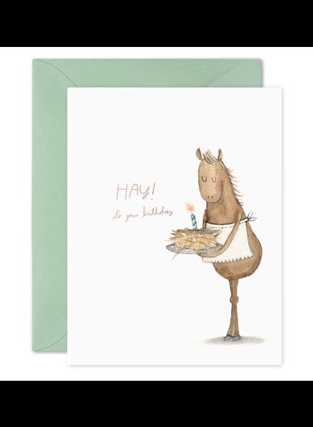Hay Cake Birthday Card