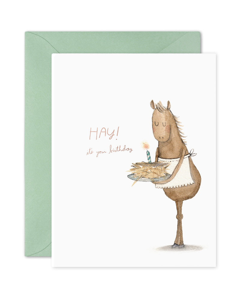 Hay Cake Birthday Card