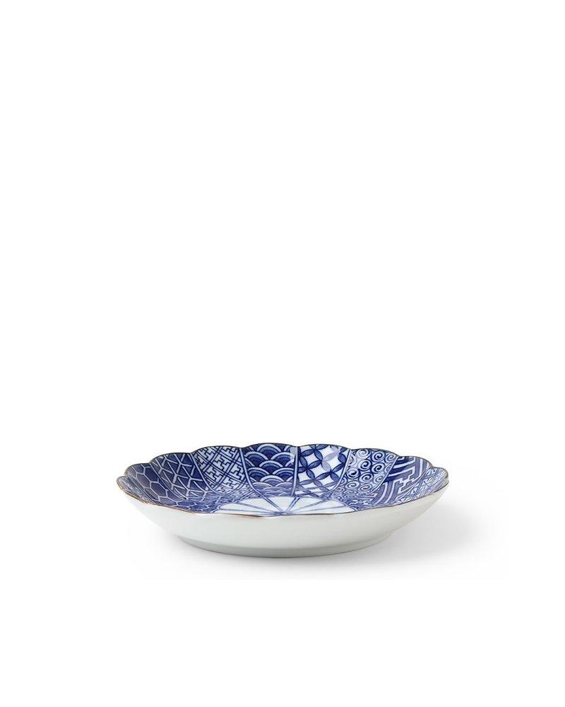 "Plate 6.25"" Blue Nishiki"