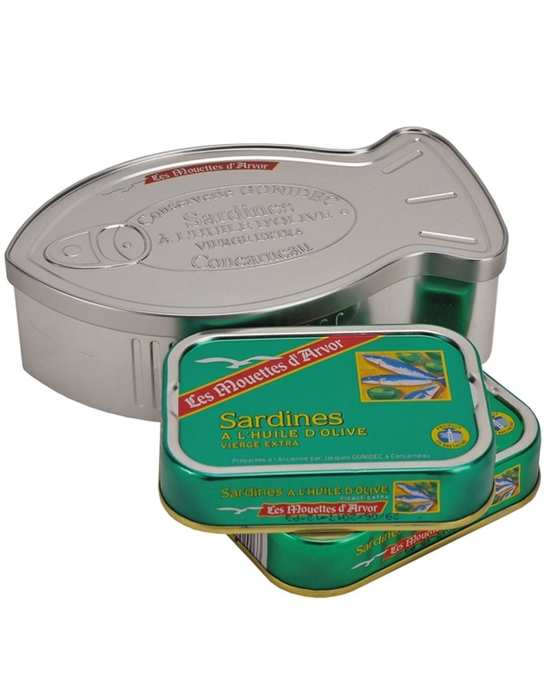 Fish Shaped Tin Sardines