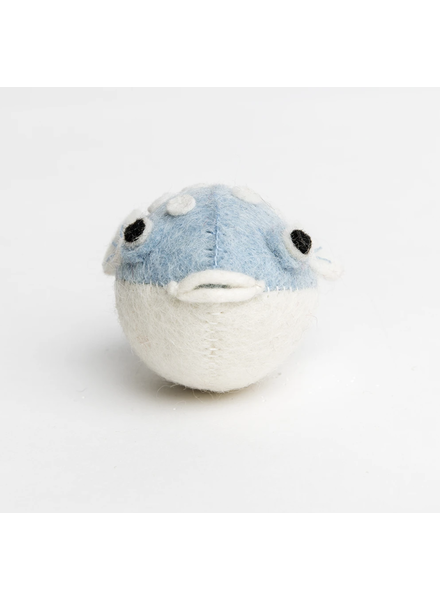 Big Puff Puffer Ornament- Blue
