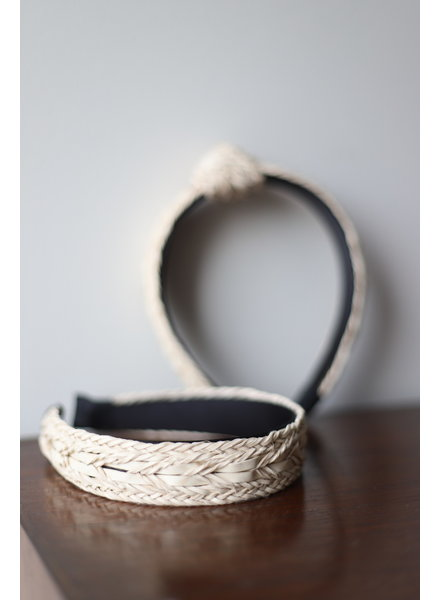 Woven Natural Leather Headband