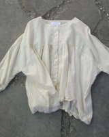 Natural Gathered Blouse