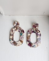 Plum Oval Earrings