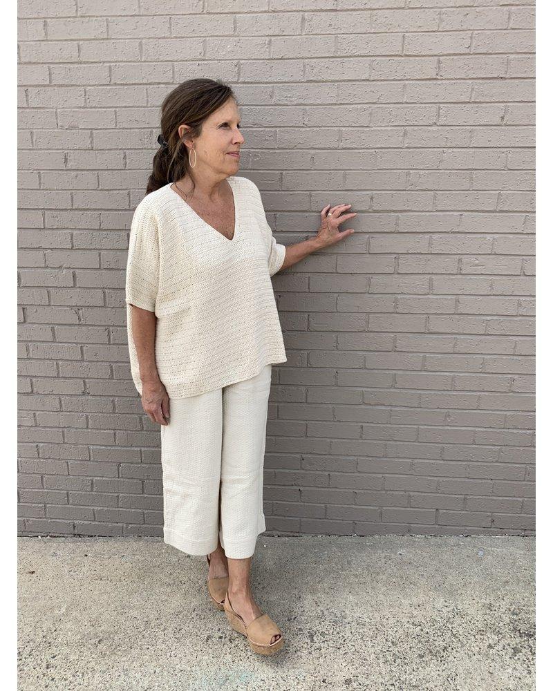 Crochet Kennedy Tunic- Cream