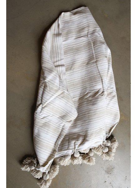 #2024  Simple Cotton, Small, Wavy Stripe Natural & White