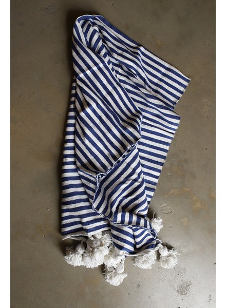 #2010 Simple Cotton, Small, Stripe Blue & White